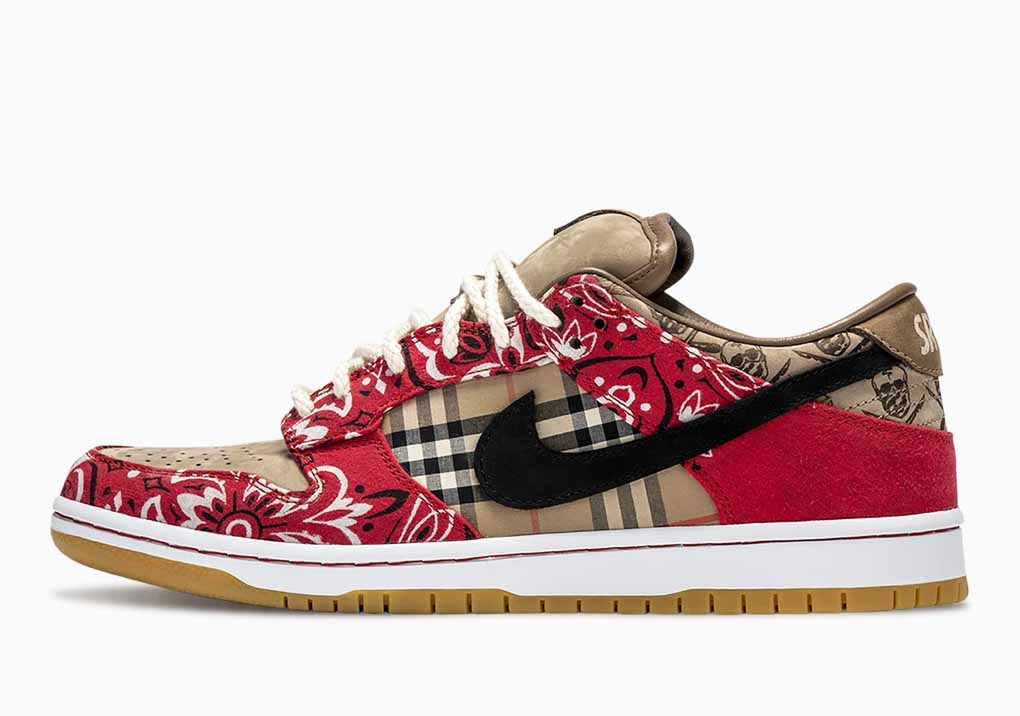 Travis Scott x Nike SB Dunk Low Red Vintage Hombre y Mujer
