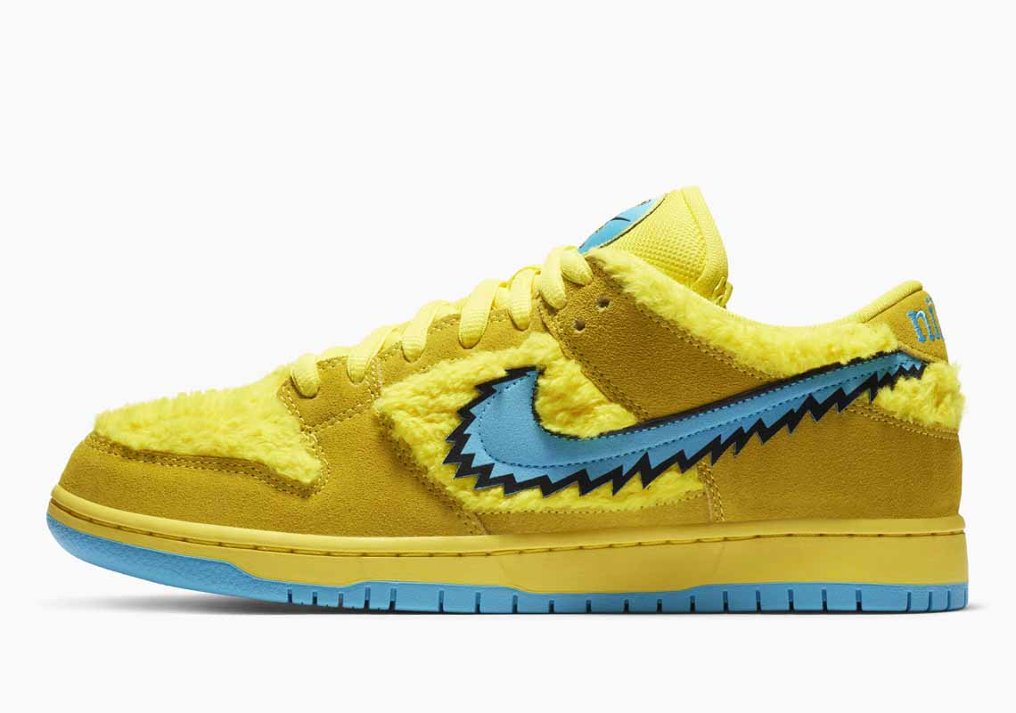 Grateful Dead x Nike SB Dunk Low Yellow Bear Hombre y Mujer