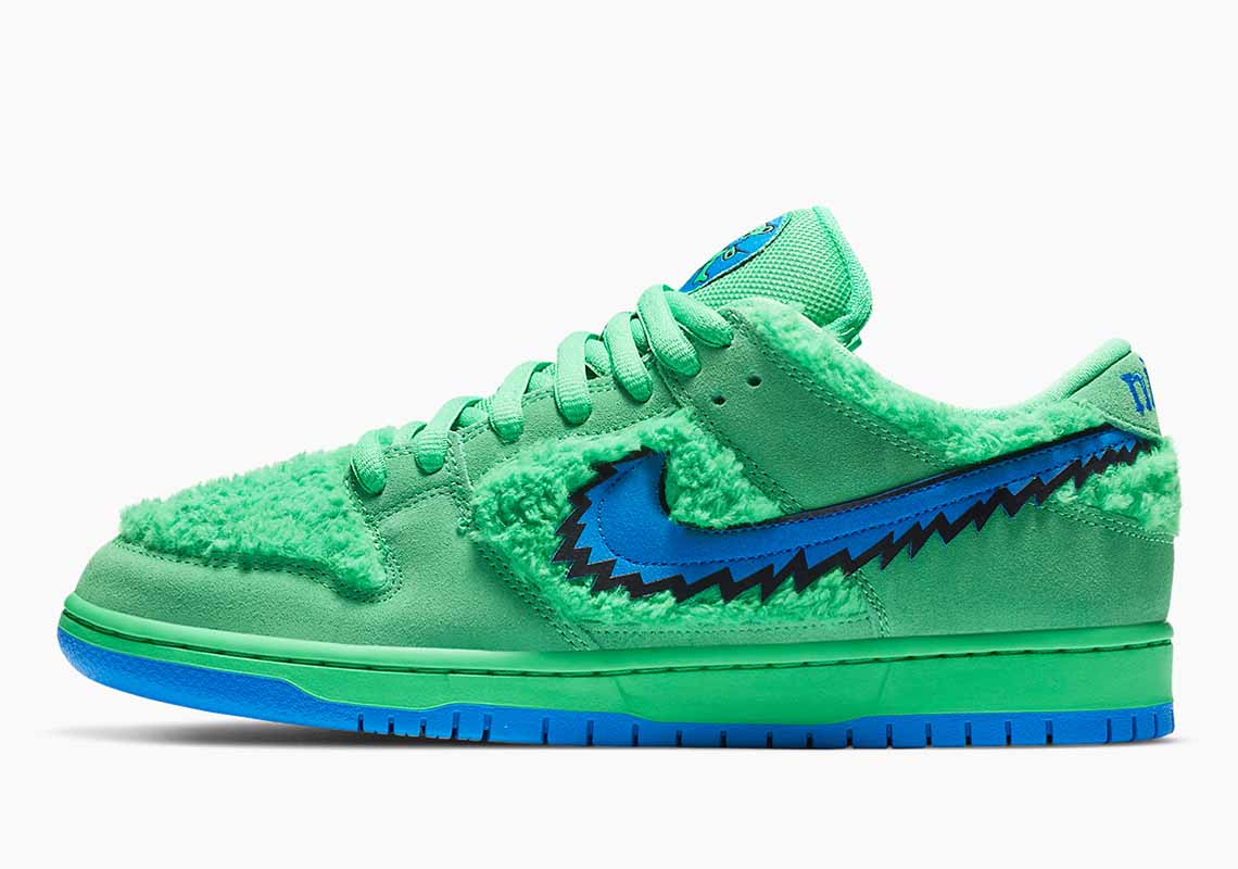 Grateful Dead x Nike SB Dunk Low Green Bear Hombre y Mujer